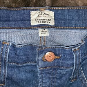 "J. Crew Jeans - J. Crew 9"" high-rise toothpick jean with cut hem"